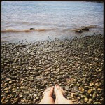 Placed my feet in the water