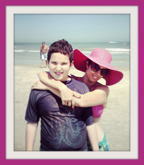 me with pink hat 2