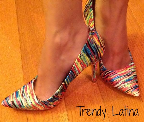 color shoe trendy latina f