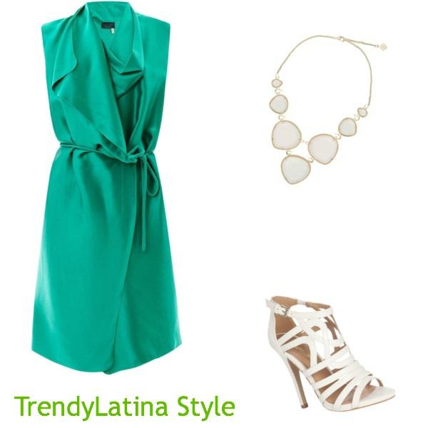 trendy green wrap dress