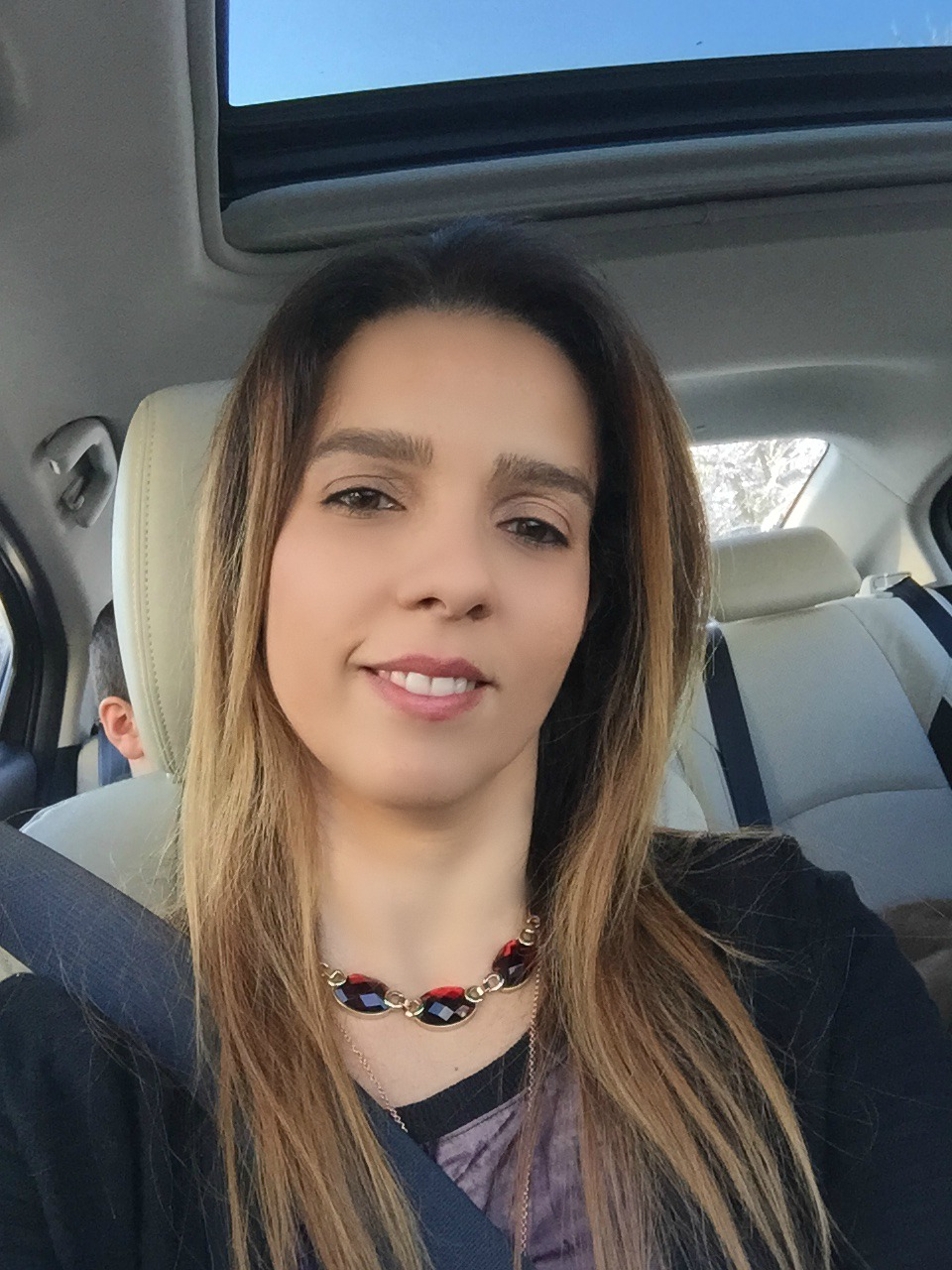 Me in the car trendy picf