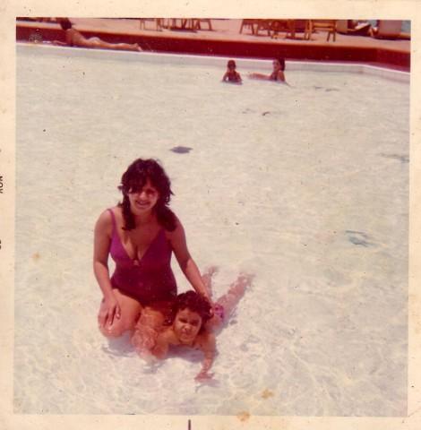 Mom and I b
