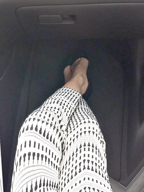 My legs in the Elantra 1