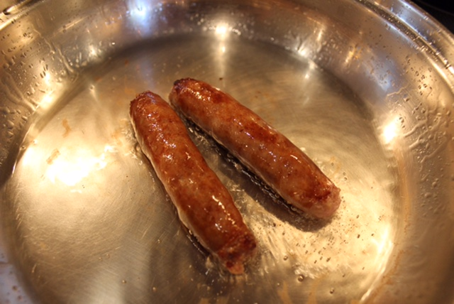 leche sausage cooking