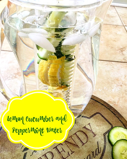 Lemon Cucumber Peppermint Water