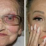 80-Year-Old Grandma Asks Her Granddaughter For A Makeup, Becomes Internet Sensation