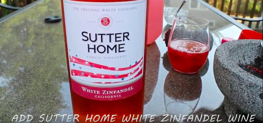 Add Sutter Home zinfandel Wine to Summer Cocktail