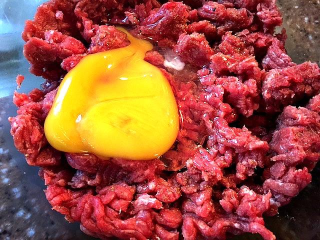Ground Beef Mixture for meatballs