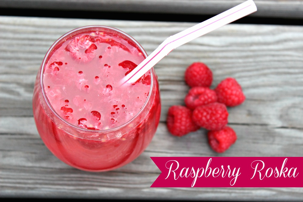 Raspberry Roska Summer Drink