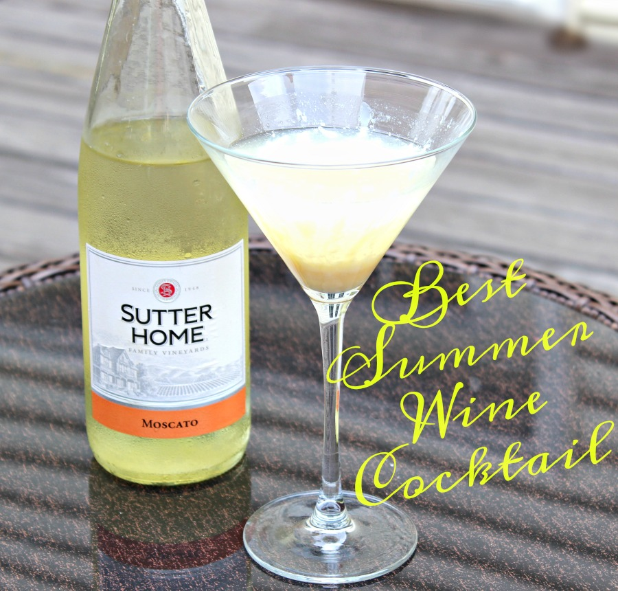Moscato Sutter Home Wine Cocktail