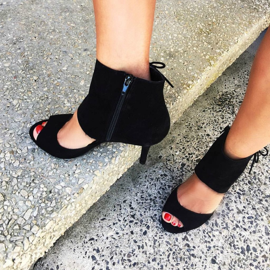 Black Laced Fall Trendy Shoes