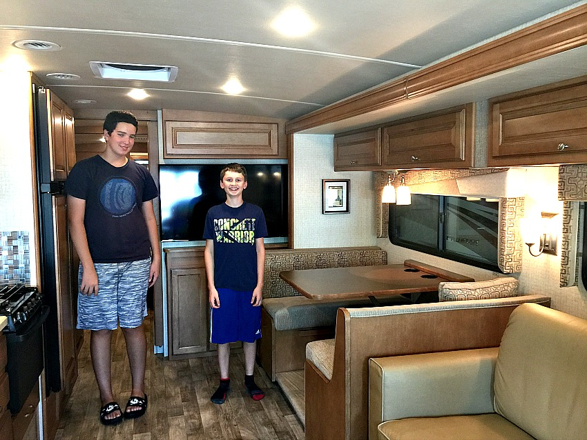RV indoors Winnebago Vista