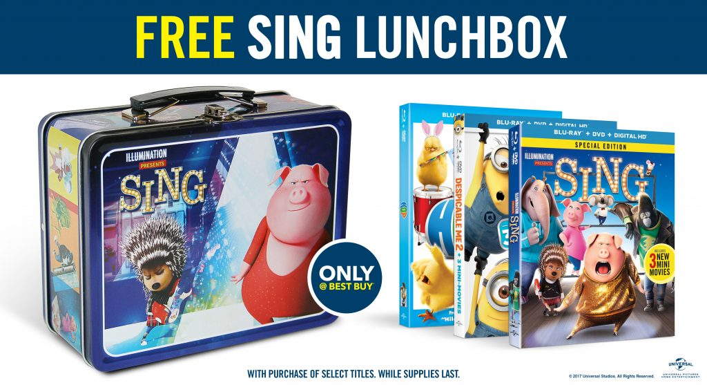 "free ""sing"" lunchbox"
