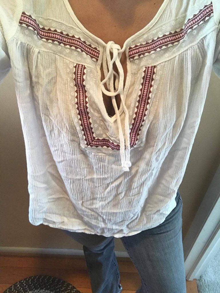deformed boho top