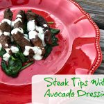 Steak Tips With Avocado Dressing