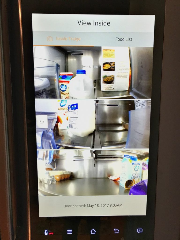 camera on samsung refrigerator