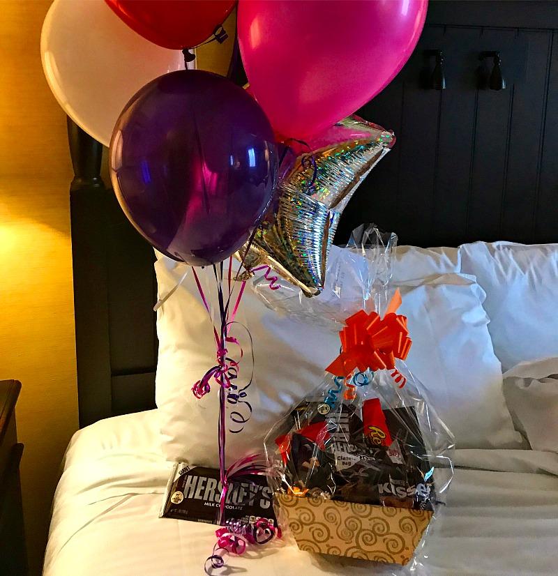 Hershey Lodge Room welcome basket