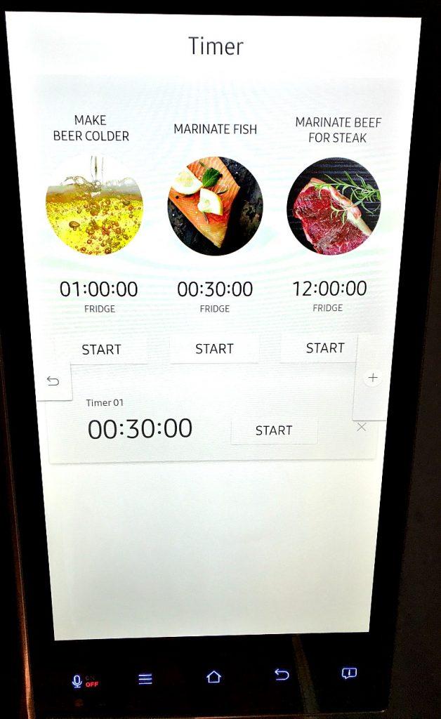samsung refrigerator timer
