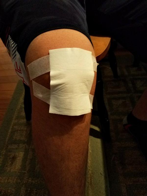 curad bandaged knee