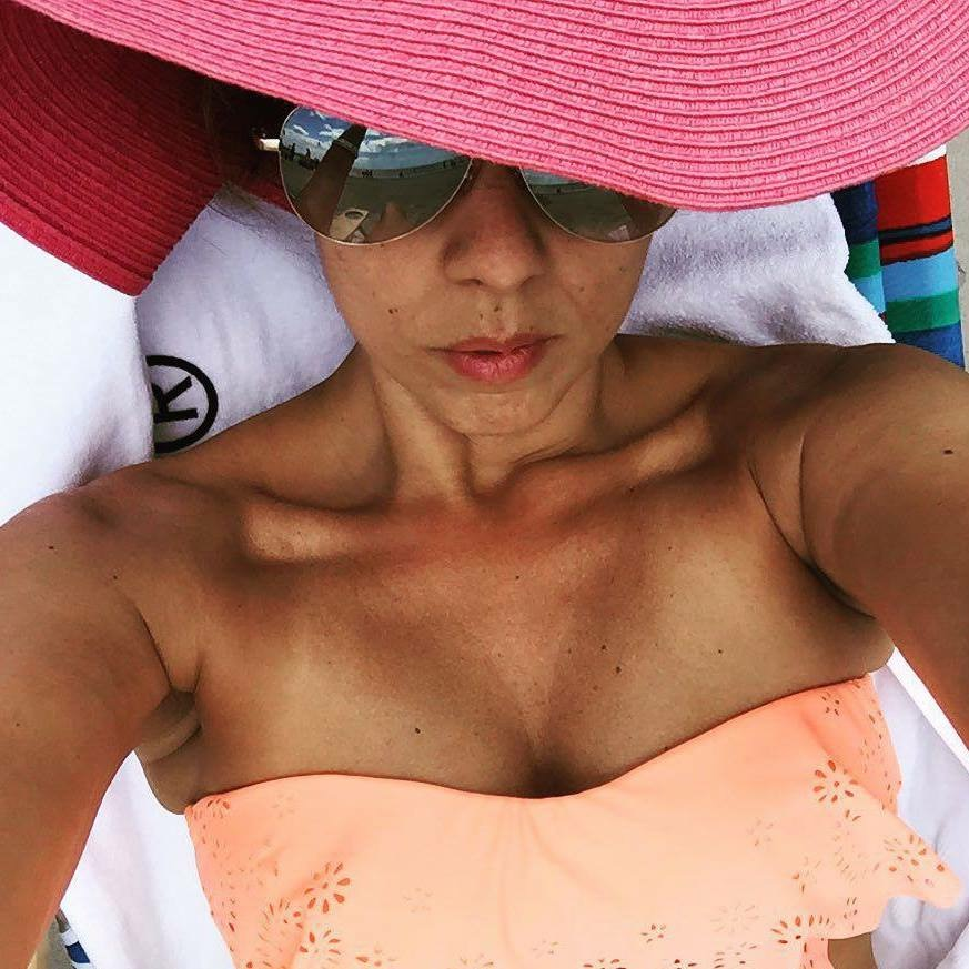 bright bathing suit