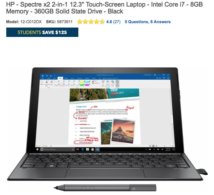Students Laptop discount at Best buy