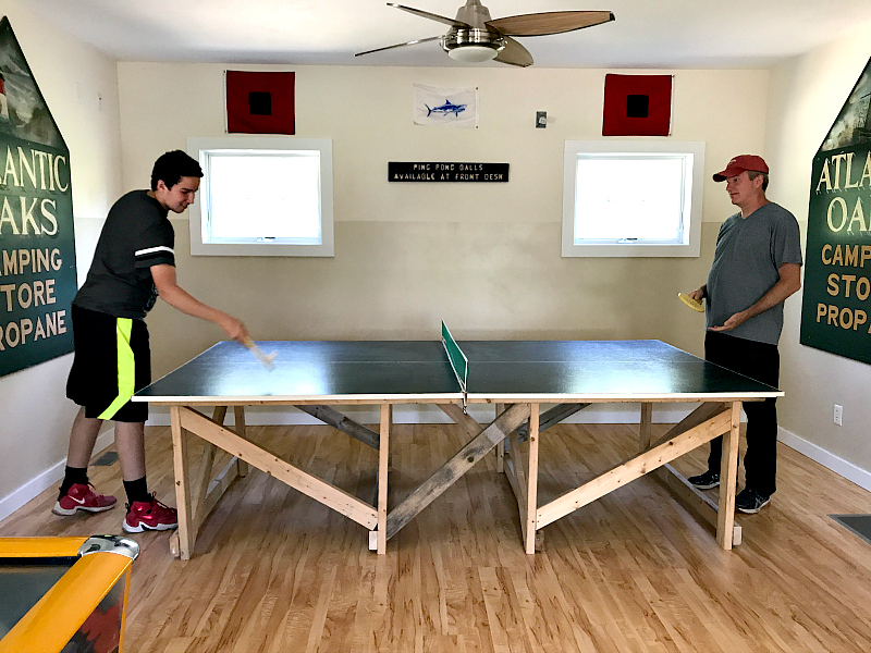table tennis at atlantic oaks campground