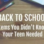 Back To School Items For Your Teens