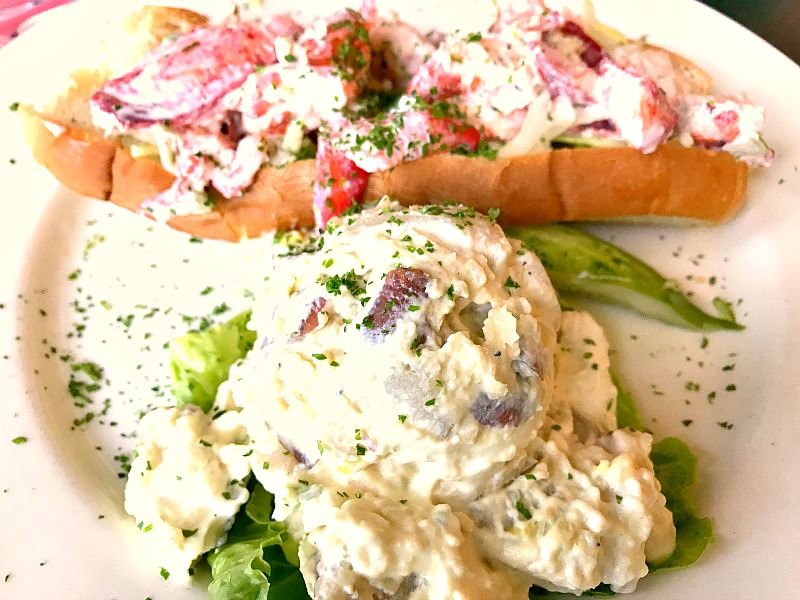 lobster roll at the lobster pot