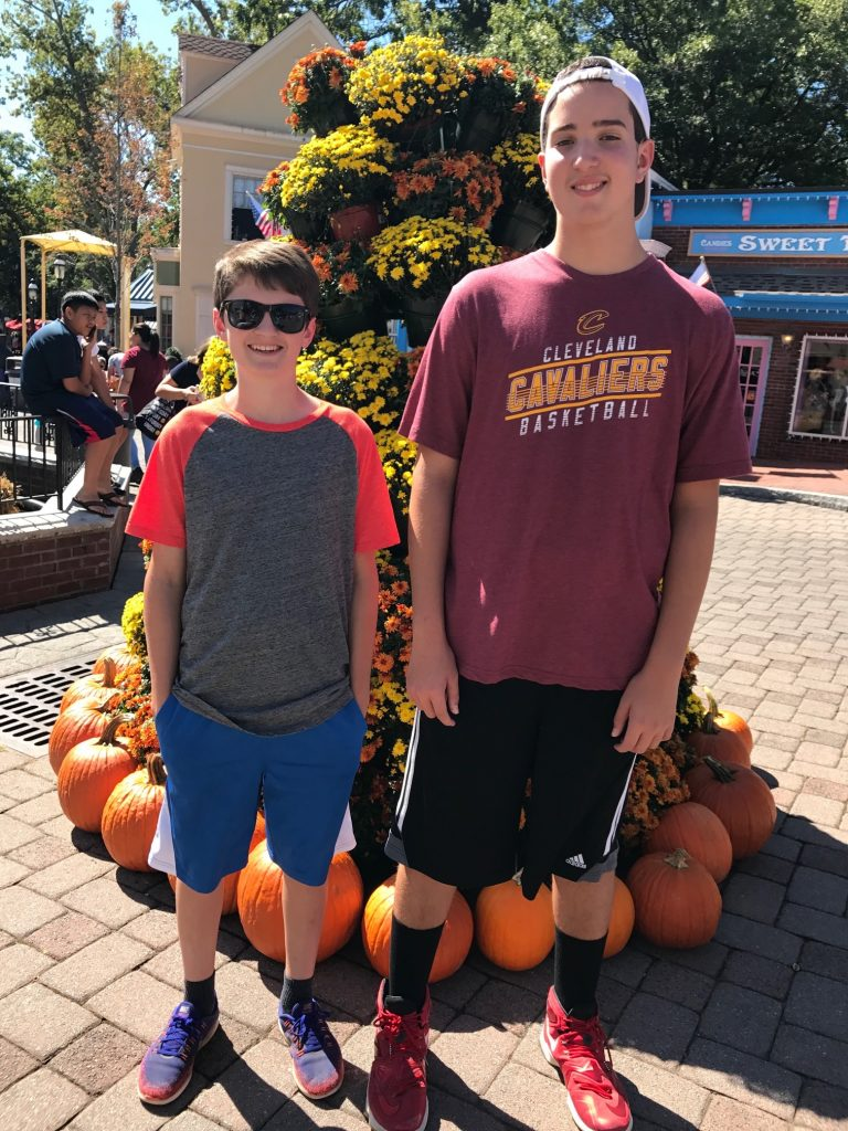 Boys at six flags