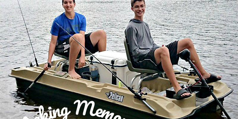 Making memories with teens fishing