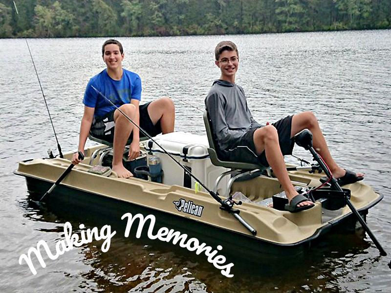 Making memories with teens fishing