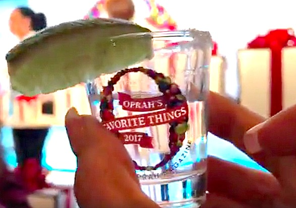 Oprah's tequila glass
