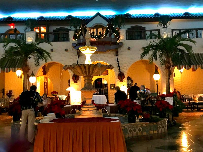 Circular hotel restaurant