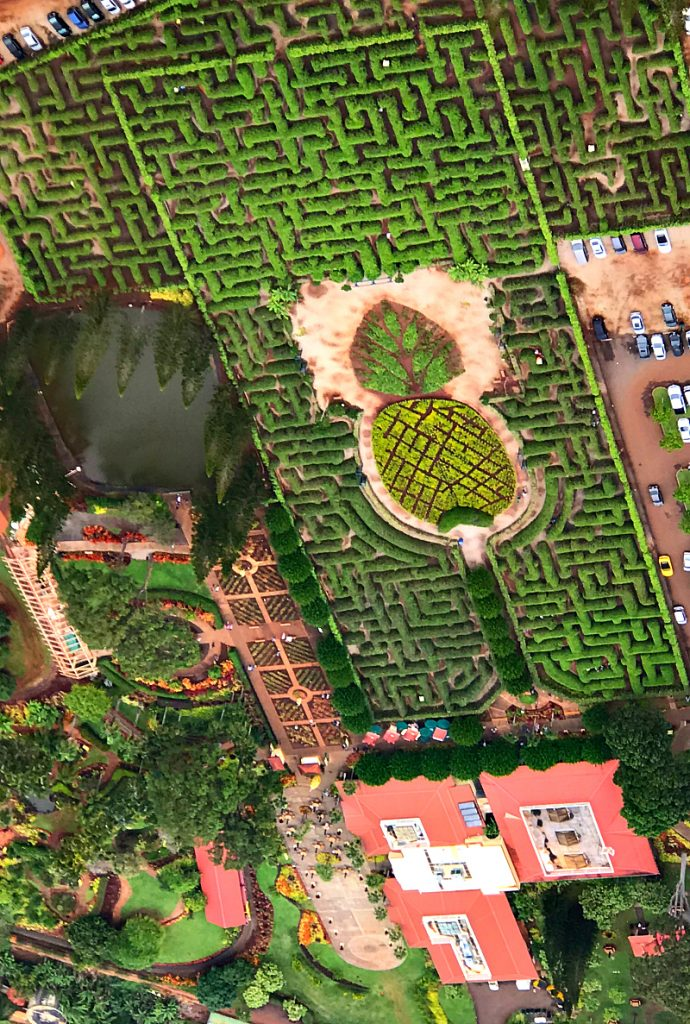 Dole Plantation Aerial view