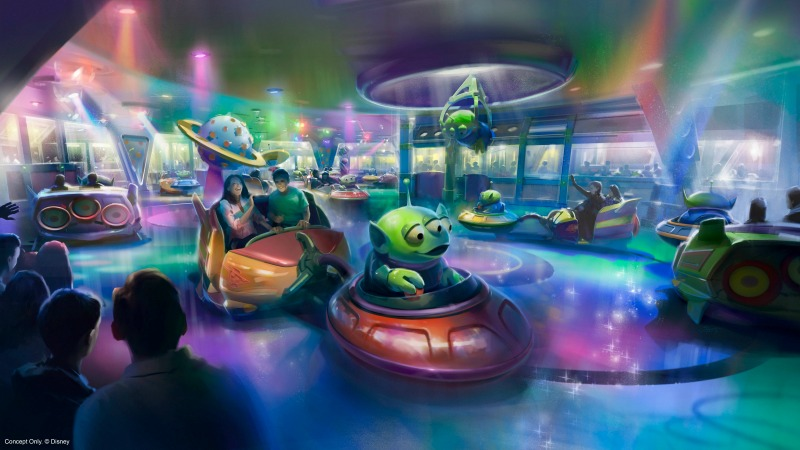 Alien Twirling Saucers at Toy Story Land