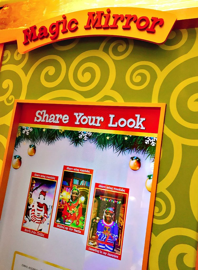 Magic Mirror At Santa HQ