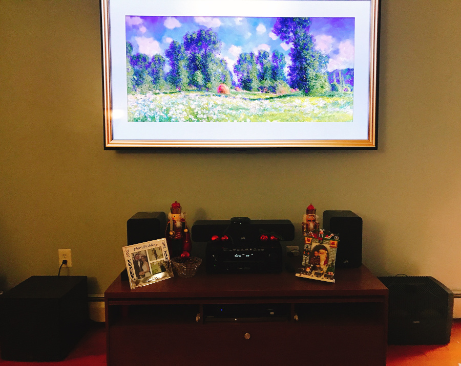 TV installation no wires hanging