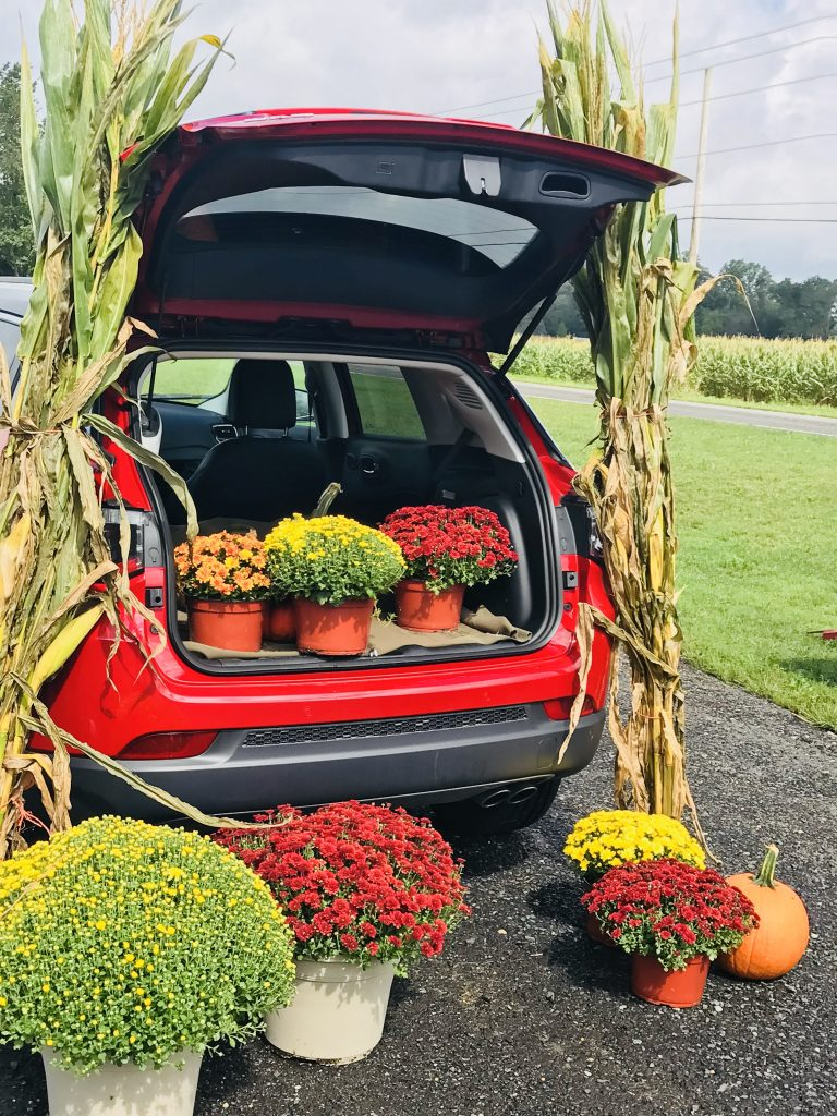 Fall decorations in the 2018 Jeep Compass