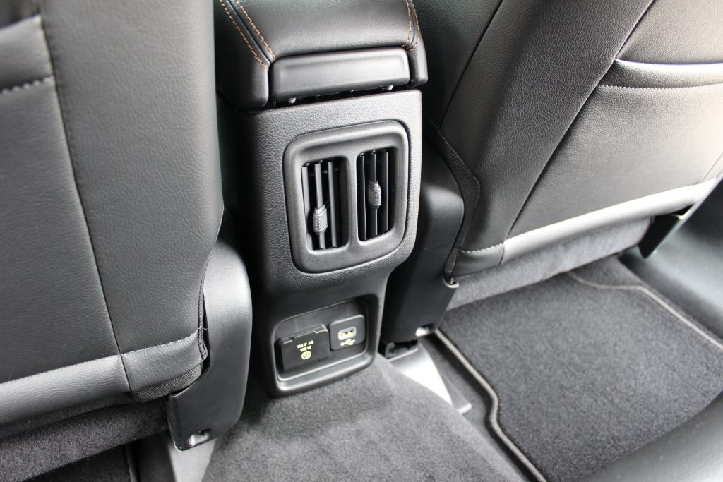 USB and charging ports in the Jeep Compass