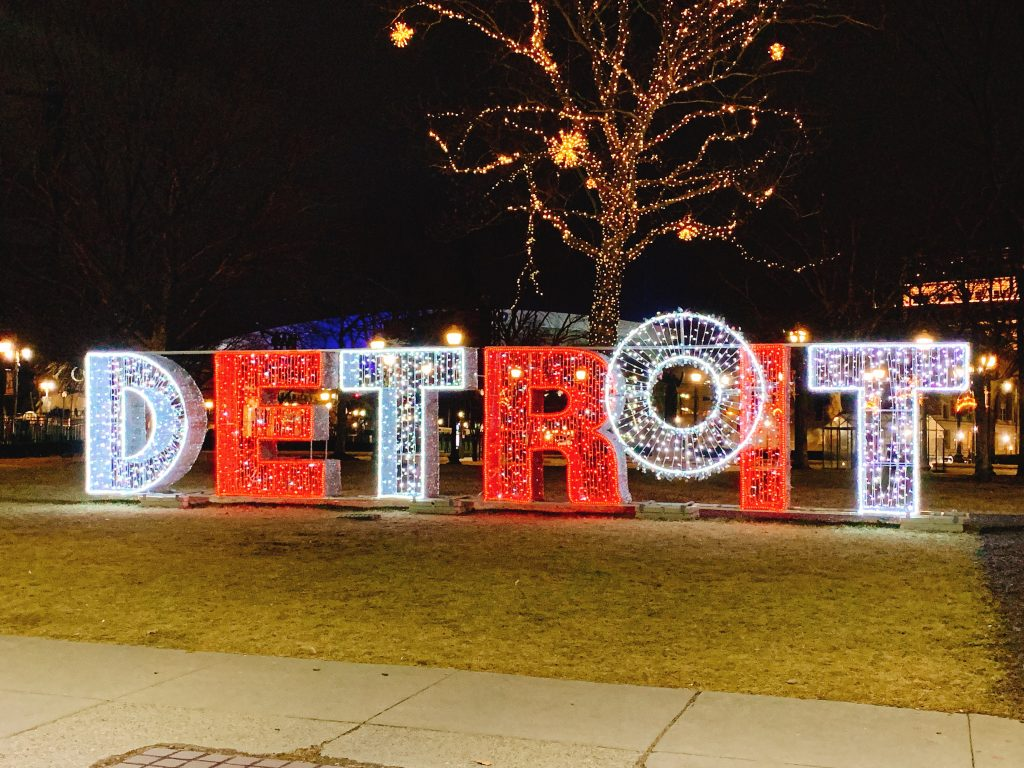 Detroit at Christmas time