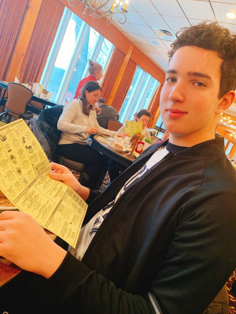 Teen Friendly Menu At Woodloch