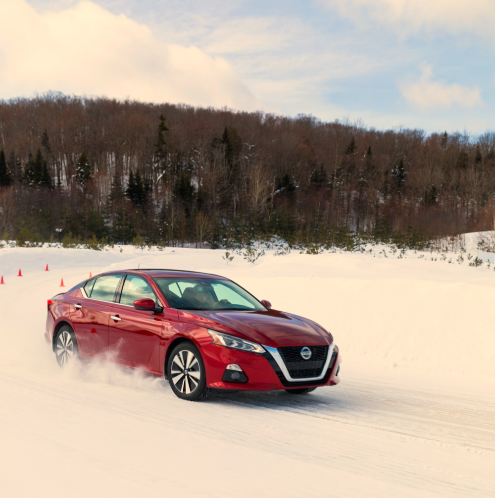 Altima AWD on ice in Canada