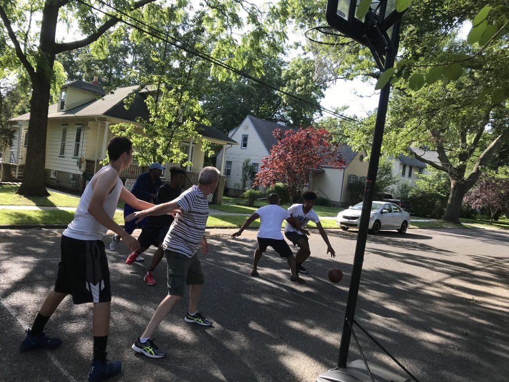 dads vs sons basketball