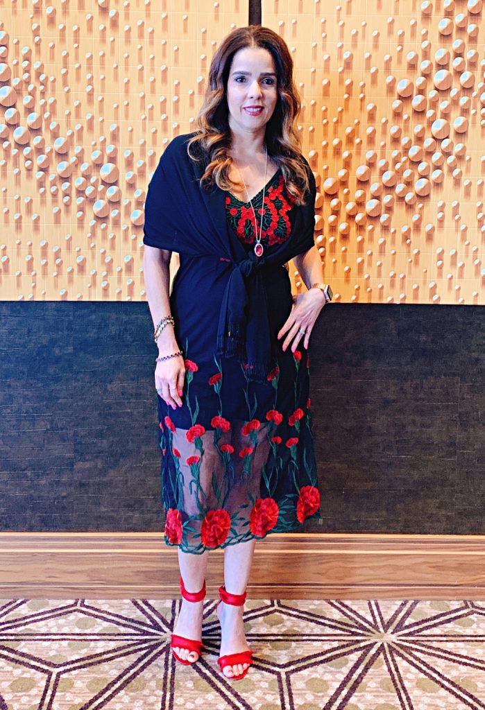 Latina Beauty Blogger At Event