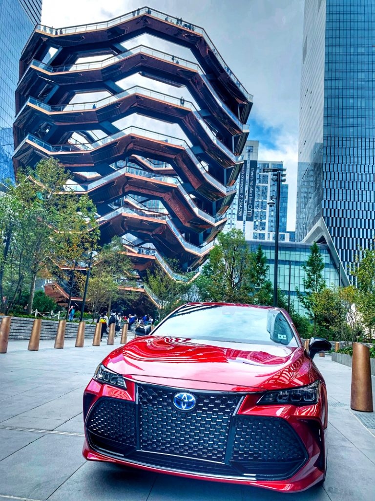The Vessel in NYC with the 2020 Avalon Hybrid