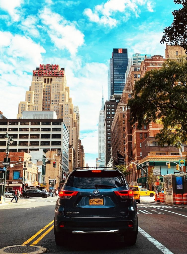cruising NYC landmarks in the Toyota Rav4