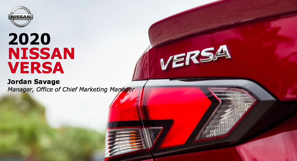 2020 Nissan Versa presentation