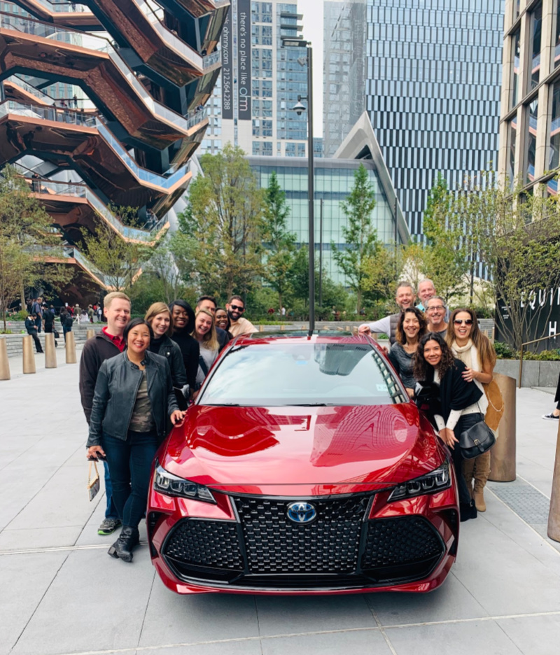 The 2020 Hybrid Toyota Avalon driving crew