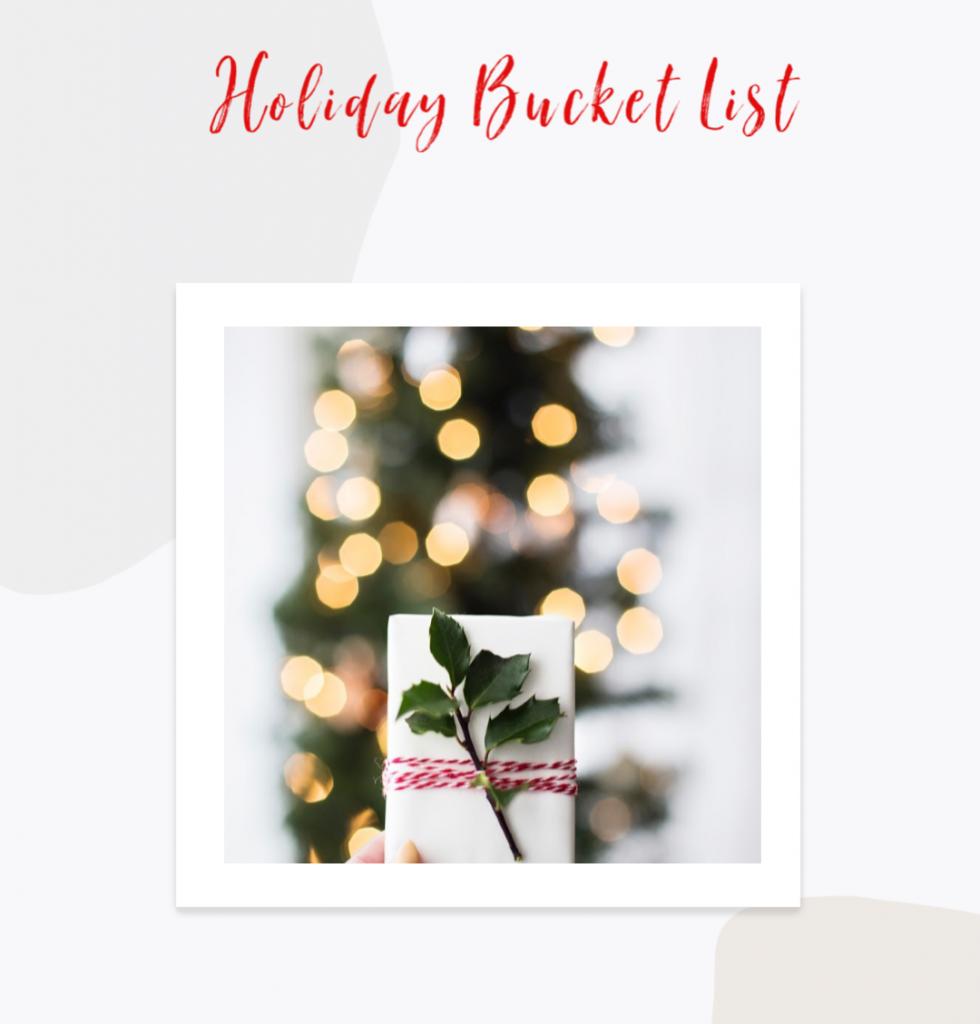 hoiday bucket list
