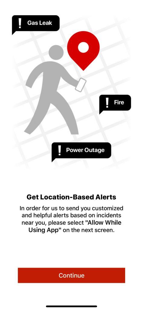 Example of Notify NYC App alert